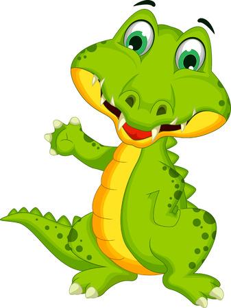 Cartoon crocodile posing Vector