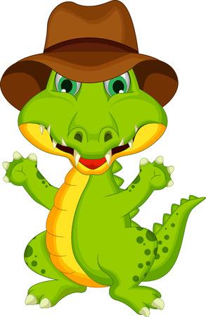 croc: Cartoon crocodile posing