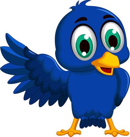 migrating: blue bird cartoon