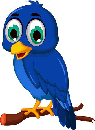 pajaro azul: azul historieta del p�jaro Vectores