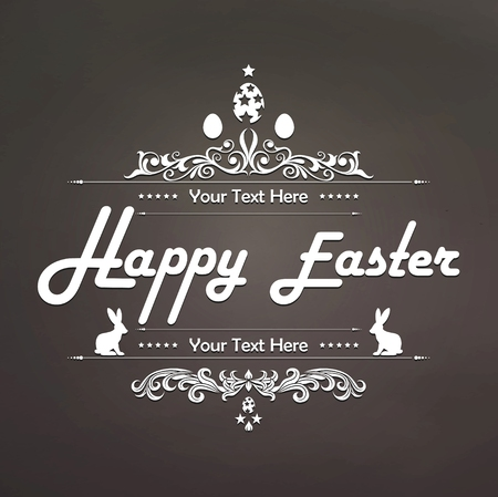 ostern: Happy Easter Typographical Background for you design Illustration