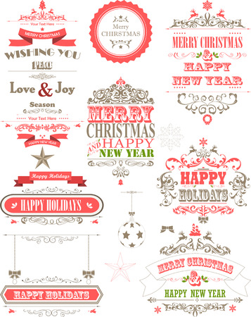 red christmas background: ornament decoration background for holiday