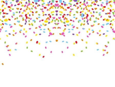 colorful confetti on white background  イラスト・ベクター素材