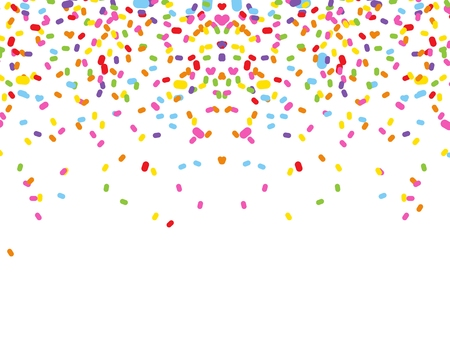 kleurrijke confetti op een witte achtergrond