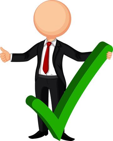 decision: Businessman making right decision