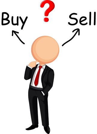 business change: Businessman confused Illustration