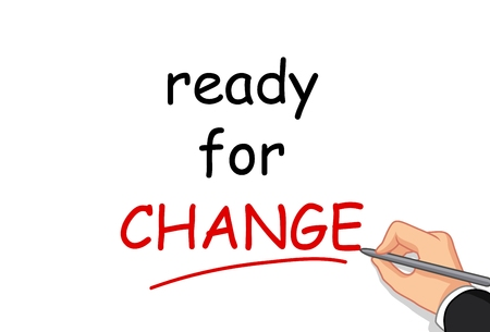 hand writing: hand writing ready for change