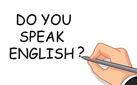 speak english: hand writing do you speak English