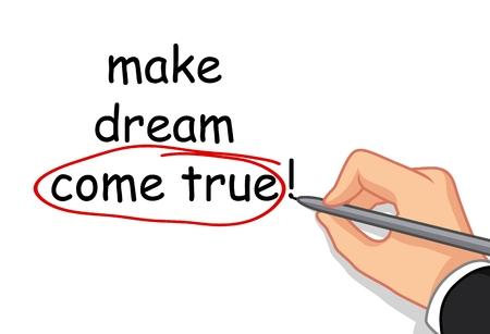 realize: hand writing make dream come true