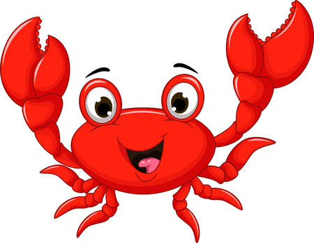 cangrejo caricatura: historieta divertida del cangrejo Vectores