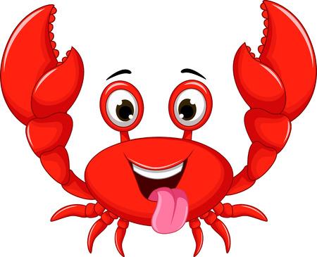 cangrejo: historieta divertida del cangrejo Vectores