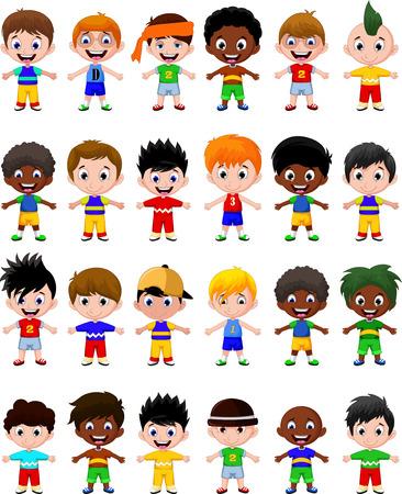 happy boy kids cartoon collection