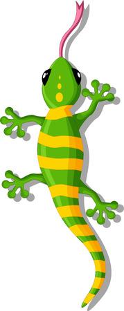 small children: green gecko cartoon for you design