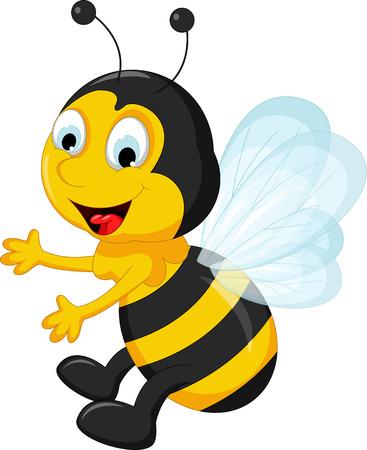 pollinate: happy Bee cartoon flying