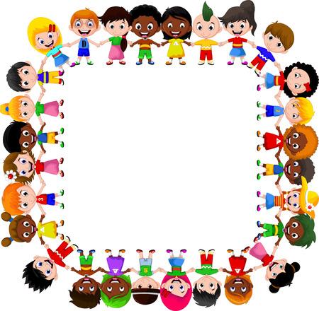 Enfants heureux de différentes races Banque d'images - 41506266