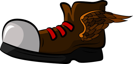 Shoe with wings for your design