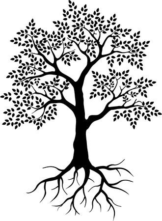 zwarte boom silhouet voor uw ontwerp