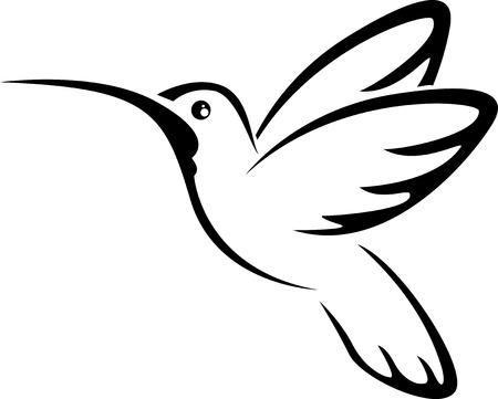 Tattoo hummingbird for you design Stock Illustratie