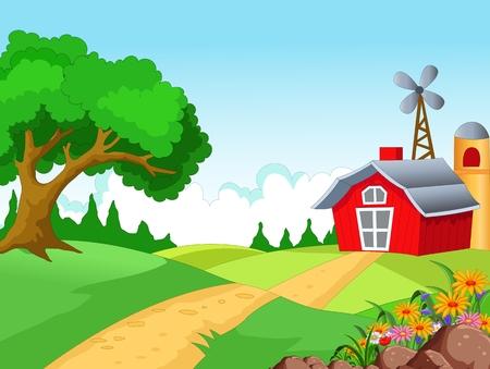 Farm achtergrond voor u ontwerp