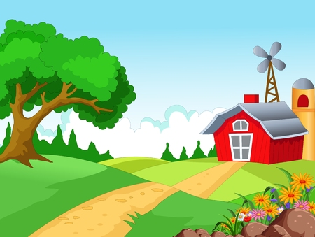 Farm background for you design Vector