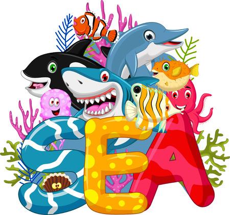Zee leven cartoon Stockfoto - 41638232
