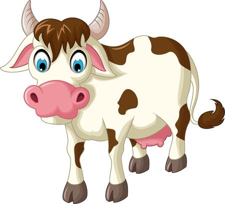 moo: cow cartoon for you design Illustration
