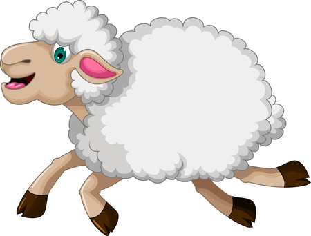 funny sheep cartoon Illustration