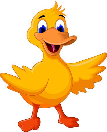 pato caricatura: historieta divertida del pato del beb� para que el dise�o