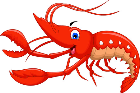shrimp cartoon for you design Иллюстрация
