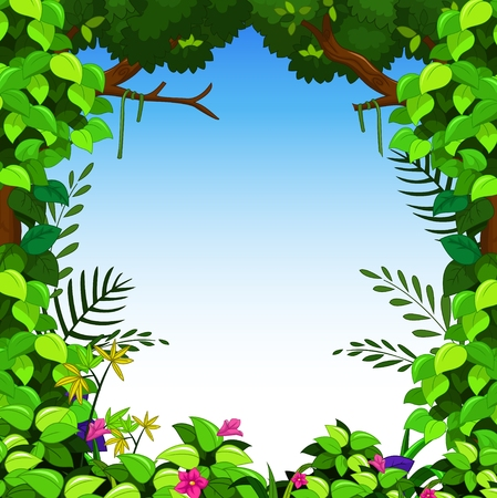 vector image: beauty green forest