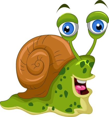 dna smile: cute snail cartoon