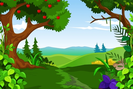amazon forest: beauty green forest for you design