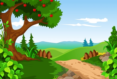 amazon forest: beauty landscape for you design Illustration
