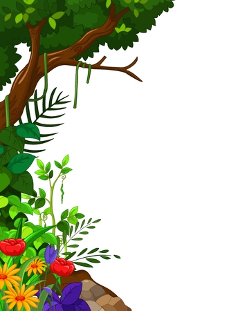 hillside: green forest Illustration