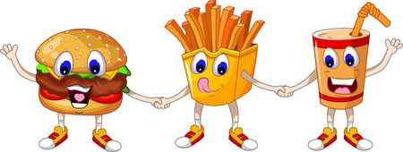 fast food: fast food cartoon for you design