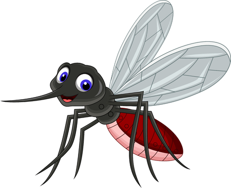 funny mosquito cartoon for you disign