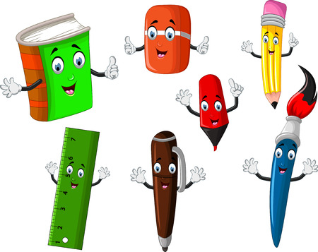 school stationery tool cartoon for you disign