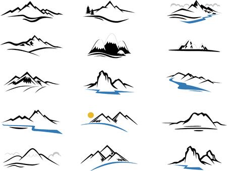 Góry Ikony kreskówki dla projektowania