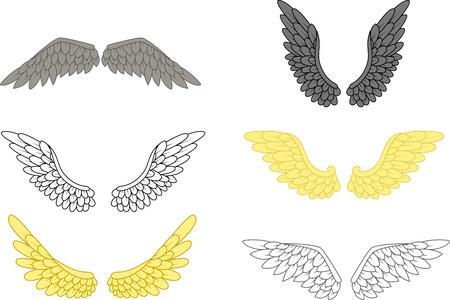 Engel vleugel set voor u ontwerp Stockfoto - 44559305