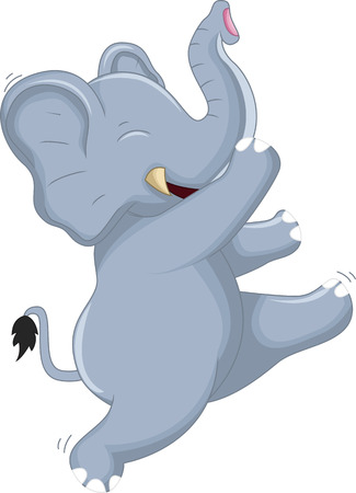 Happy Very Cute baby elephant dancing for you design