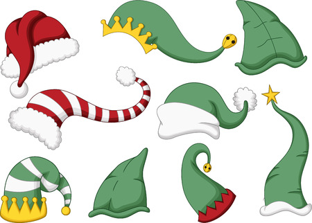 props: collection of santa hat cartoon