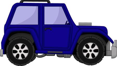 bodywork: cute jeep car cartoon