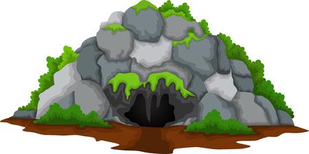 de dibujos animados lindo de la cueva para que el diseño