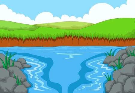 mountain view: beatiful view of river with mountain landscape background