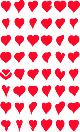 heart icon: collection of heart icon