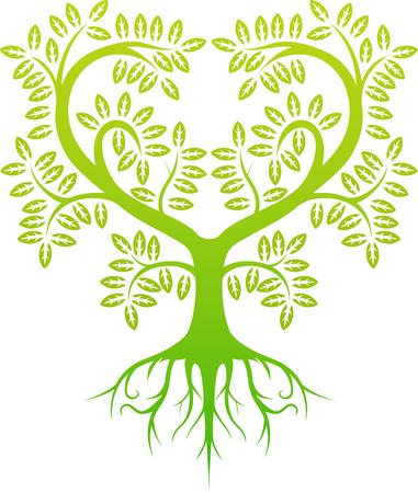 Baum-Silhouette für Sie Design Vektorgrafik
