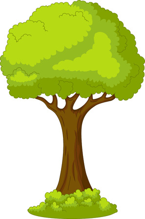 drawing trees: tree with life background Illustration
