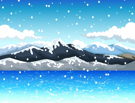 upland: snow mountain landscape background