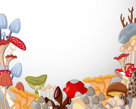 cute mushroom cartoon for you design 矢量图像