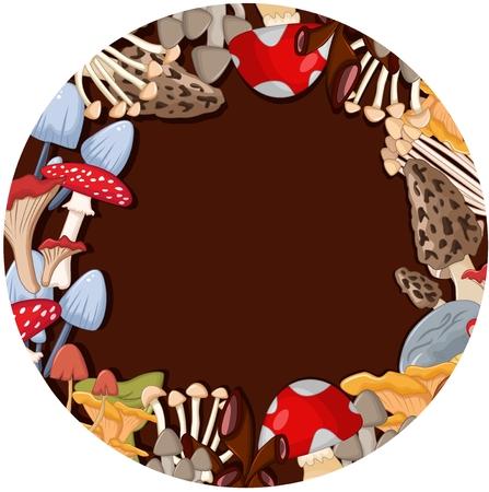 fleshy: cute mushroom cartoon Illustration